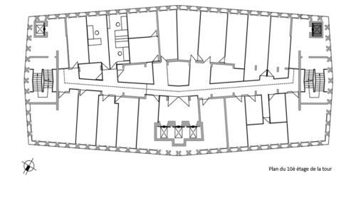 Plan 10e étage